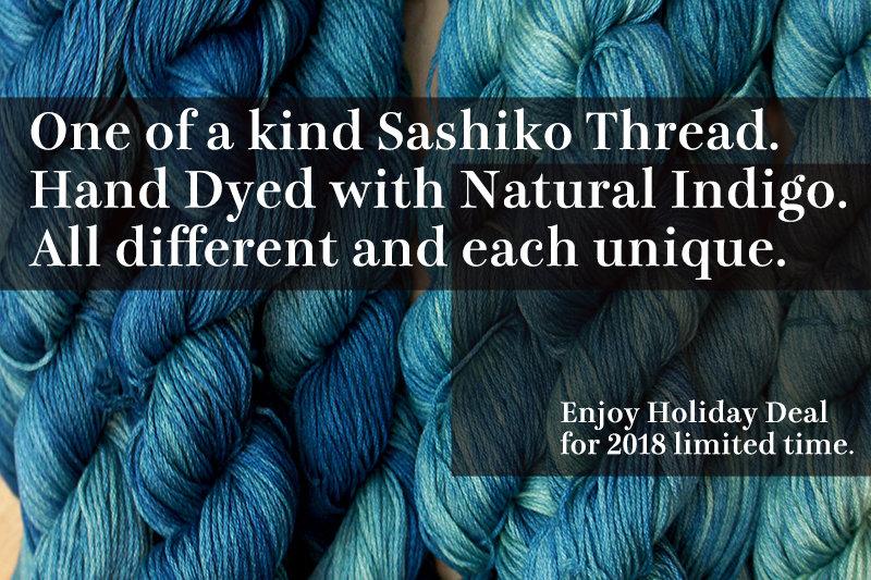 Indigo Dye Sashiko Thread | One of a kind for Holiday 2018