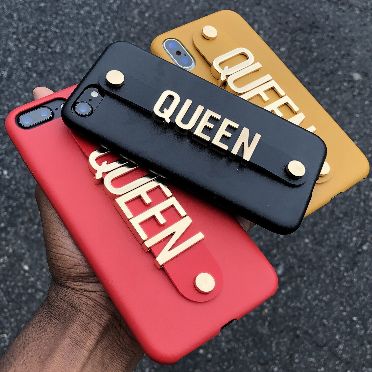 Leather/Gold customized iPhone case