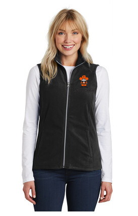 Port Authority® Ladies Microfleece Vest Black