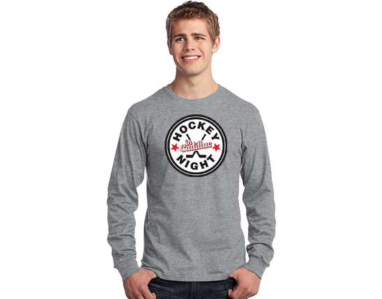 Port & Company® Long Sleeve Core Blend Tee - HOCKEY