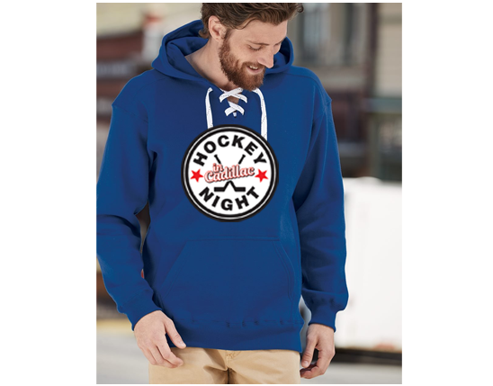 J. America - Sport Lace Hooded Sweatshirt  - HOCKEY