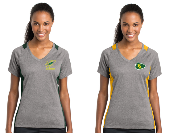 Ladies Sport-Tek® Heather Colorblock Contender™ Tee