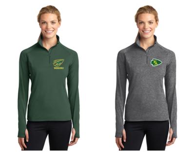 Ladies Sport-Tek® Sport-Wick® Stretch 1/2-Zip Pullover