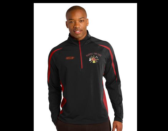 Sport-Tek® Sport-Wick® Stretch 1/2-Zip Colorblock Pullover