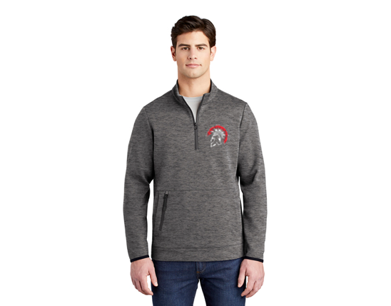 ST281 Sport-Tek ® Triumph 1/4-Zip Pullover - Dark Grey Heather
