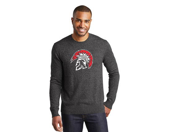 SW417 Port Authority ® Marled Crew Sweater - Black
