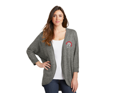 LSW416 Port Authority ® Ladies Marled Cocoon Sweater - Warm Grey