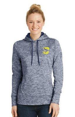 Sport-Tek® Ladies PosiCharge® Electric Heather Fleece Hooded Pullover. LST225.