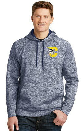 Sport-Tek® PosiCharge® Electric Heather Fleece Hooded Pullover. ST225.