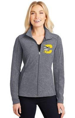 Port Authority® Heather Microfleece Full-Zip Jacket. L235.