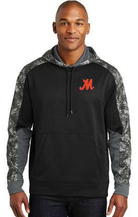 Sport-Tek® Sport-Wick® Mineral Freeze Fleece Colorblock Hooded Pullover. ST231
