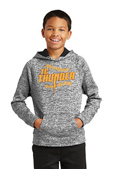 YOUTH Sport-Tek® PosiCharge®Electric Heather Fleece Hooded Pullover