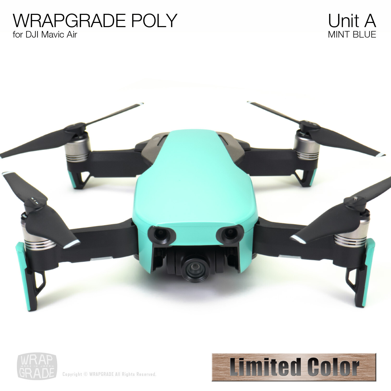 Wrapgrade Poly Skin for DJI Mavic Air | Unit A (MINT BLUE)【Limited】