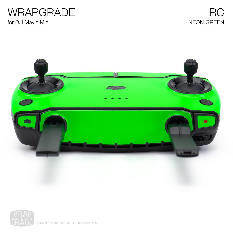 Remote Controller NEON Green Wrapgrade Skin Compatible with DJI Mavic Mini