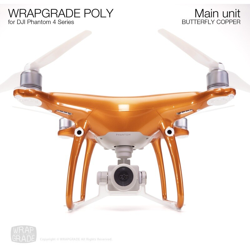 Wrapgrade Poly Skin for DJI Phantom 4 | Main unit (BUTTERFLY COPPER)