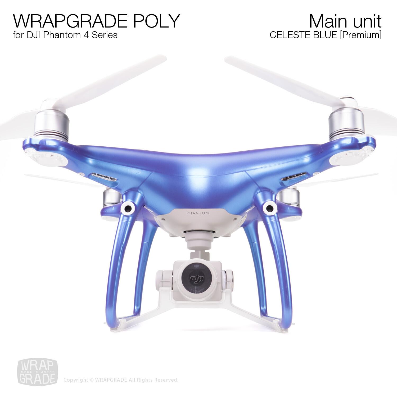 Wrapgrade Poly Skin for DJI Phantom 4 | Main unit (CELESTE BLUE)