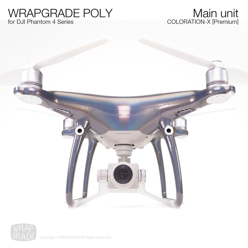 Wrapgrade Poly Skin for DJI Phantom 4 | Main unit (Coloration-X)