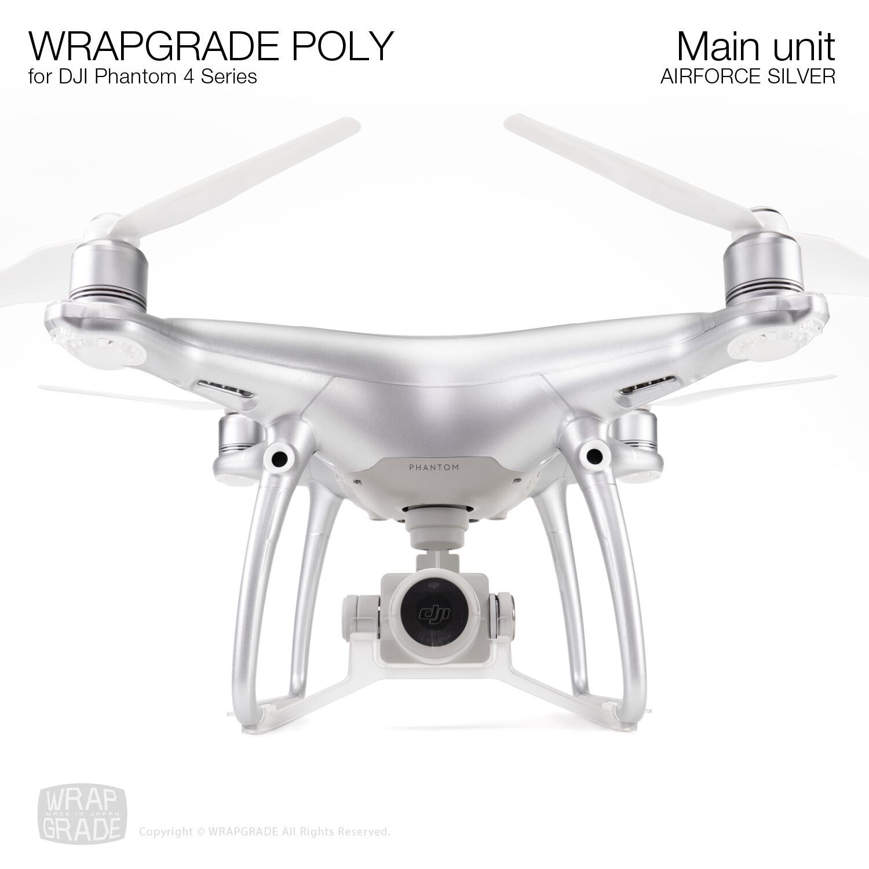 Wrapgrade Poly Skin for DJI Phantom 4 | Main unit (AIRFORCE SILVER)