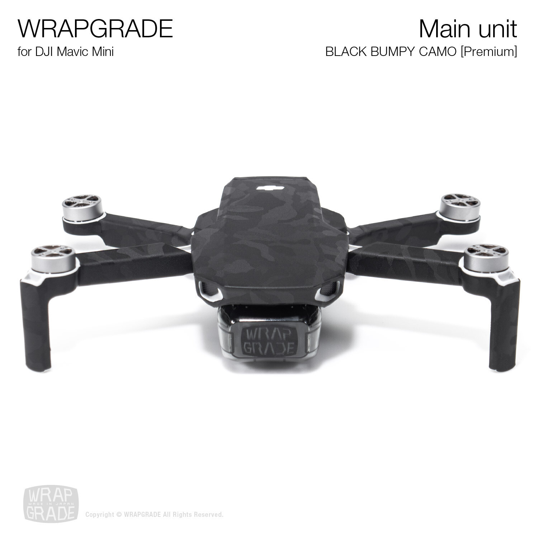 Wrapgrade Poly Skin for Mavic Mini | Main Unit (BLACK BUMPY CAMO)