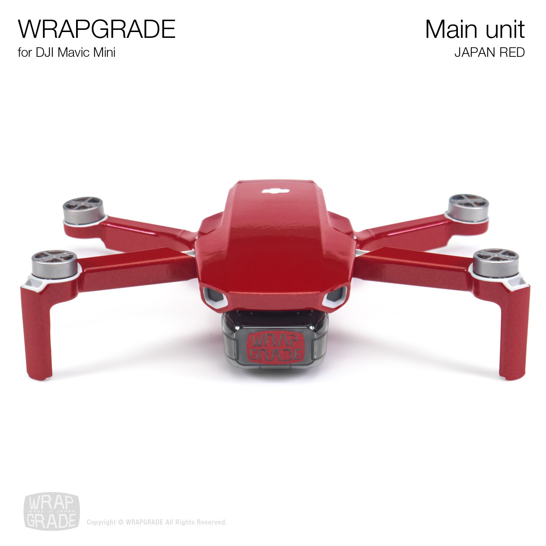 Wrapgrade Poly Skin for Mavic Mini | Main Unit (JAPAN RED)