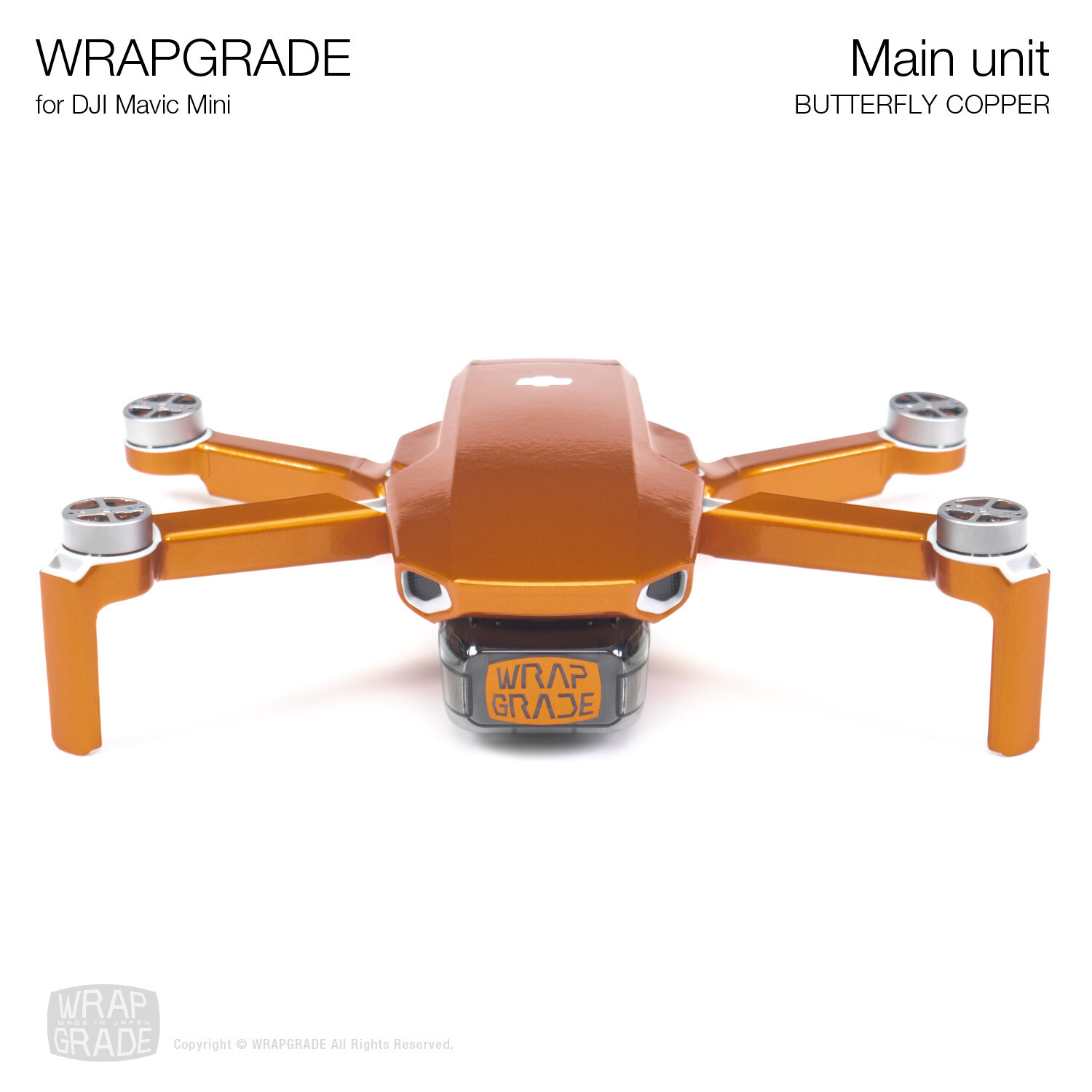 Wrapgrade Poly Skin for Mavic Mini | Main Unit (BUTTERFLY COPPER)