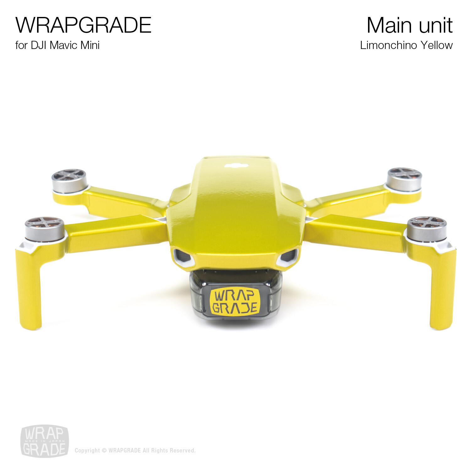 Wrapgrade Poly Skin for Mavic Mini | Main Unit (LIMONCINO YELLOW)