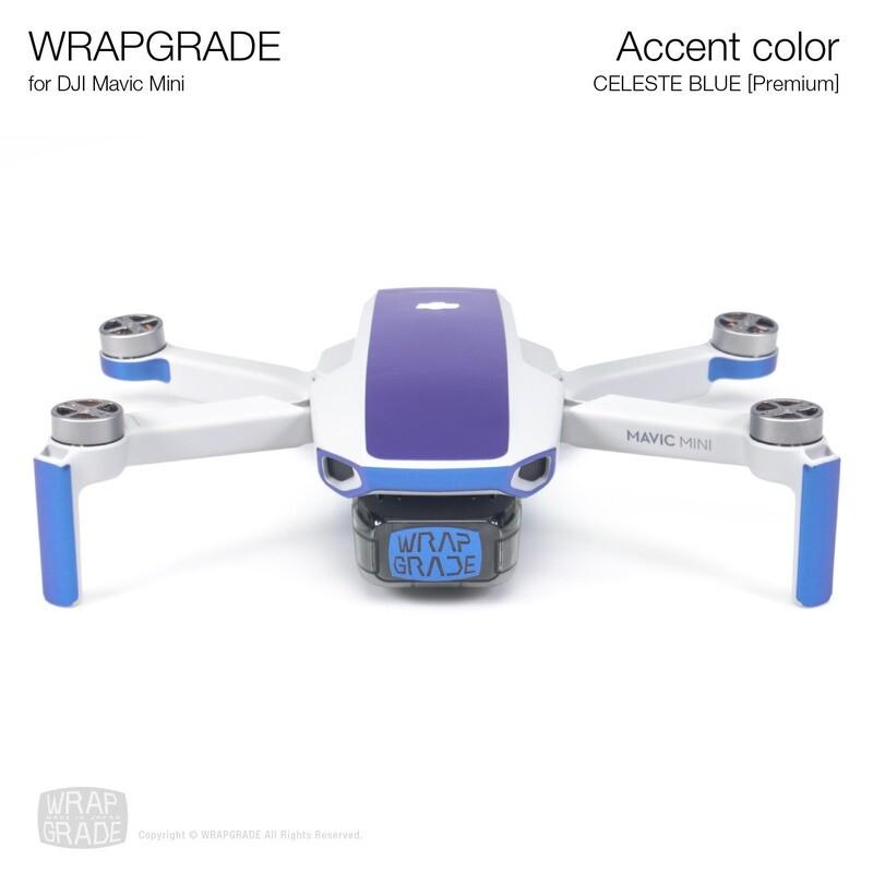 Wrapgrade Poly Skin for Mavic Mini | Accent color (CELESTE BLUE)