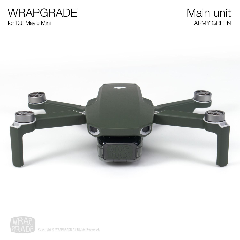 Wrapgrade Poly Skin for Mavic Mini | Main Unit (ARMY GREEN)