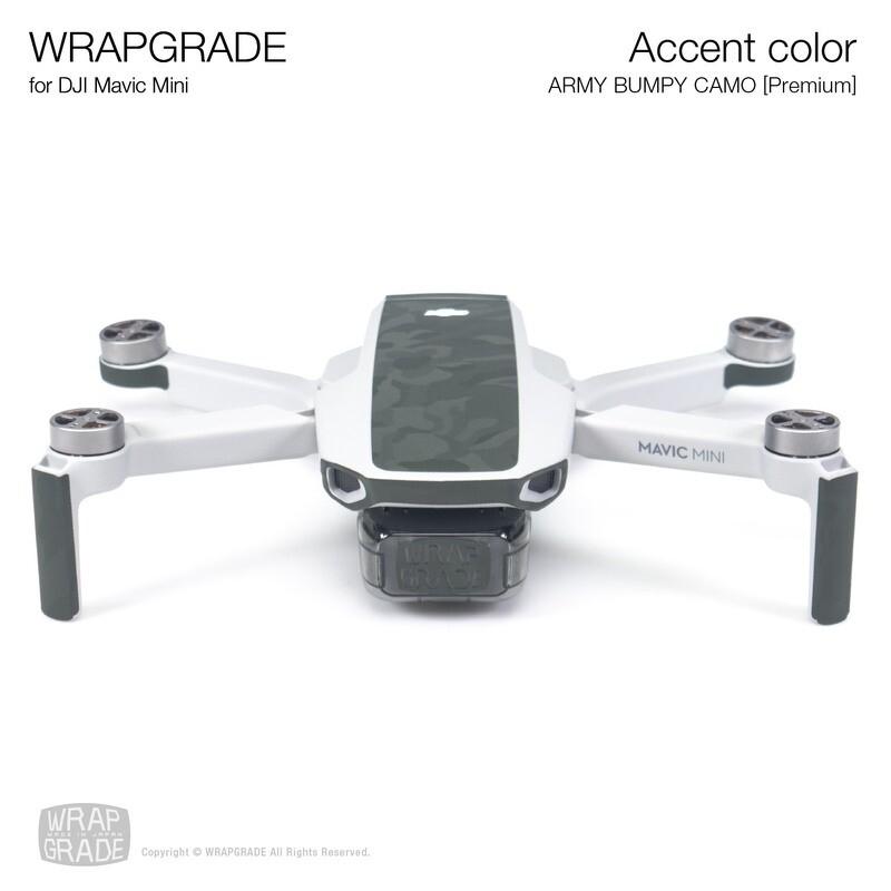 Wrapgrade Poly Skin for Mavic Mini | Accent color (ARMY BUMPY CAMO)