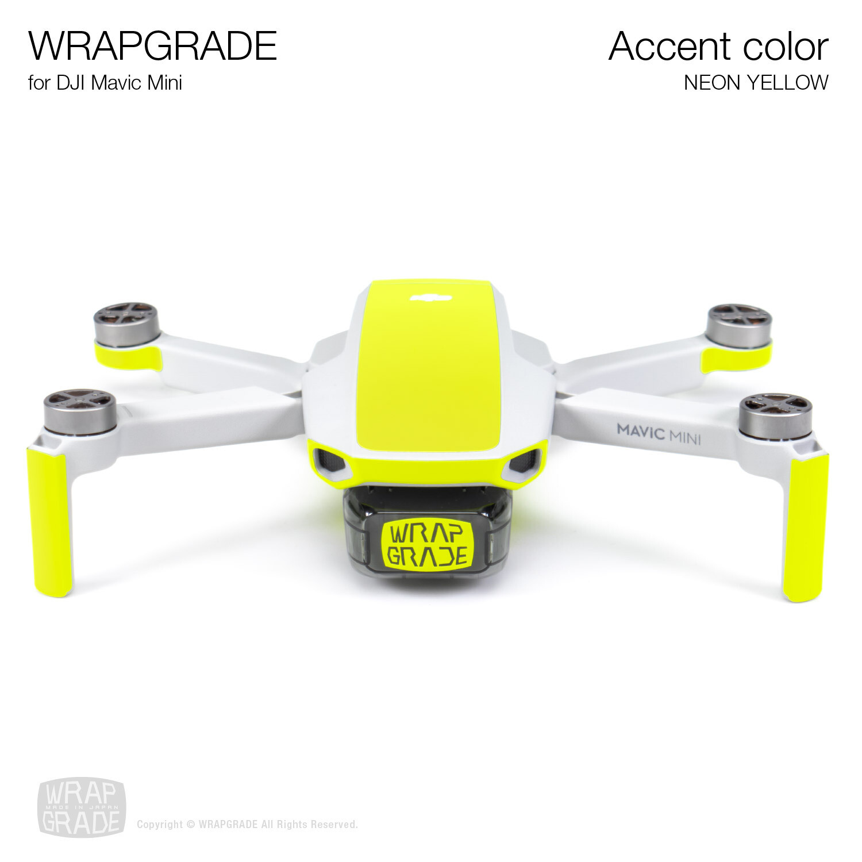 Wrapgrade Poly Skin for Mavic Mini | Accent color (NEON YELLOW)