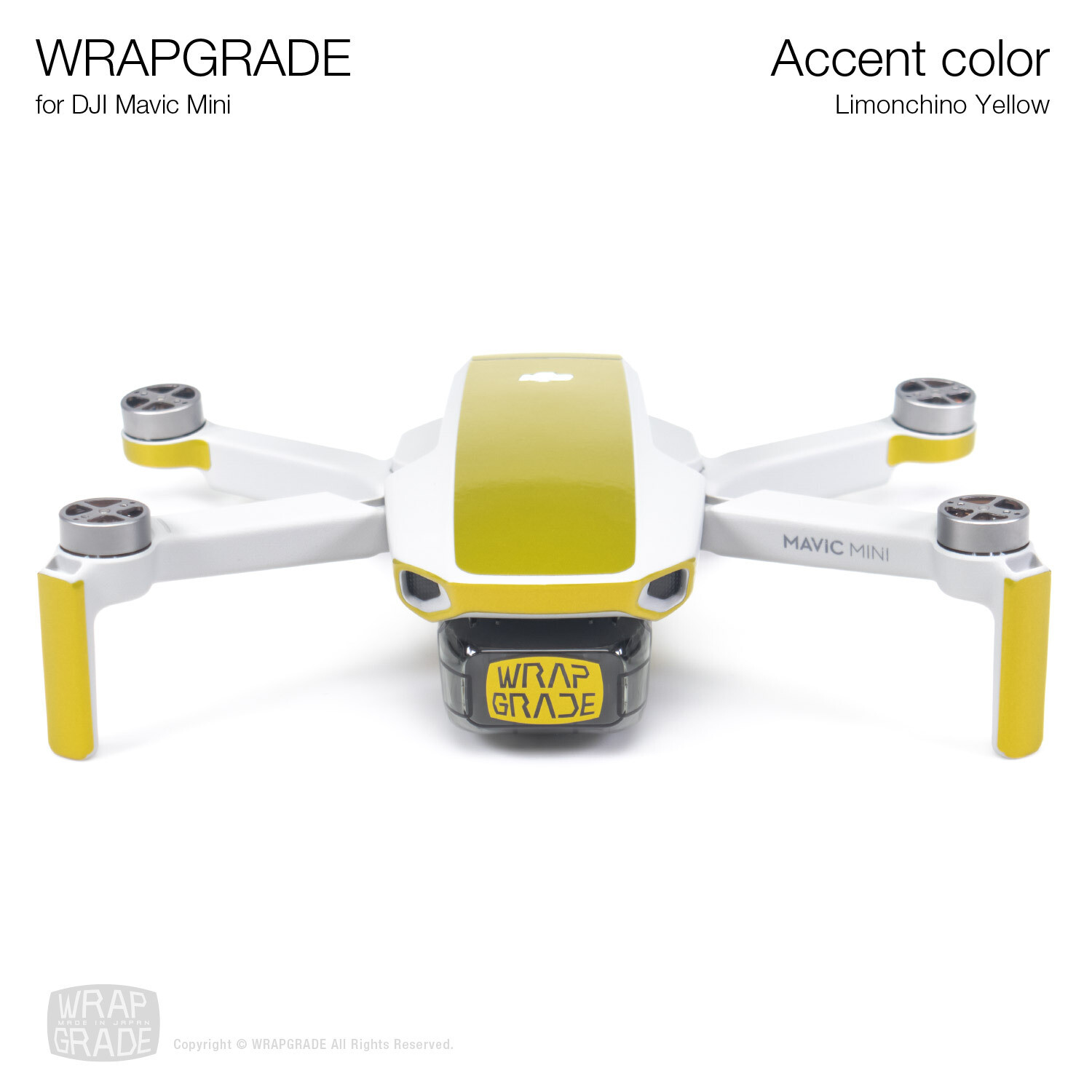 Wrapgrade Poly Skin for Mavic Mini | Accent color (LIMONCINO YELLOW)