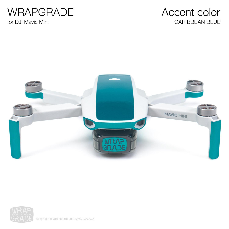 Wrapgrade Poly Skin for Mavic Mini | Accent color (CARIBBEAN BLUE)