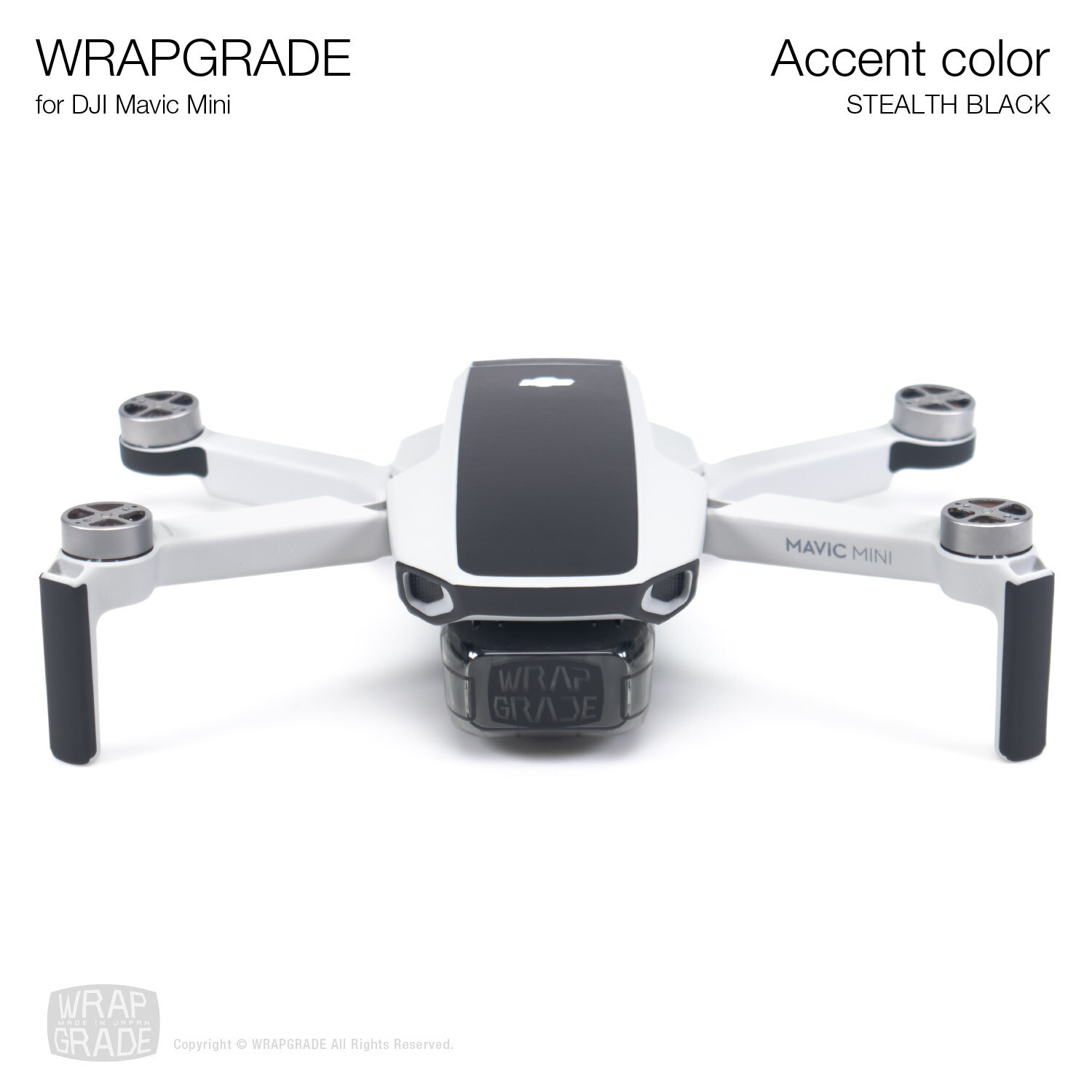 Wrapgrade Poly Skin for Mavic Mini | Accent color (STEALTH BLACK)