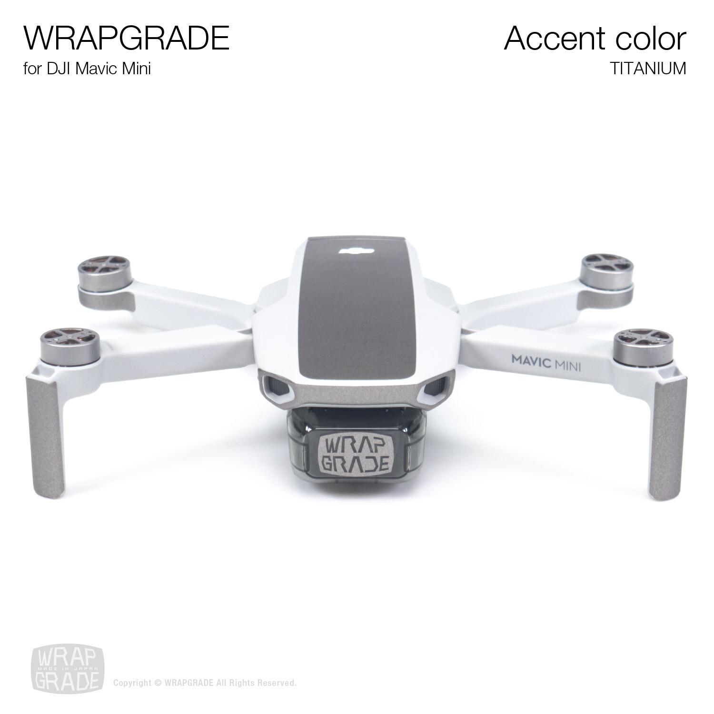 Wrapgrade Poly Skin for Mavic Mini | Accent color (TITANIUM)