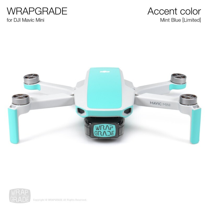 Wrapgrade Poly Skin for Mavic Mini | Accent color (MINT BLUE)