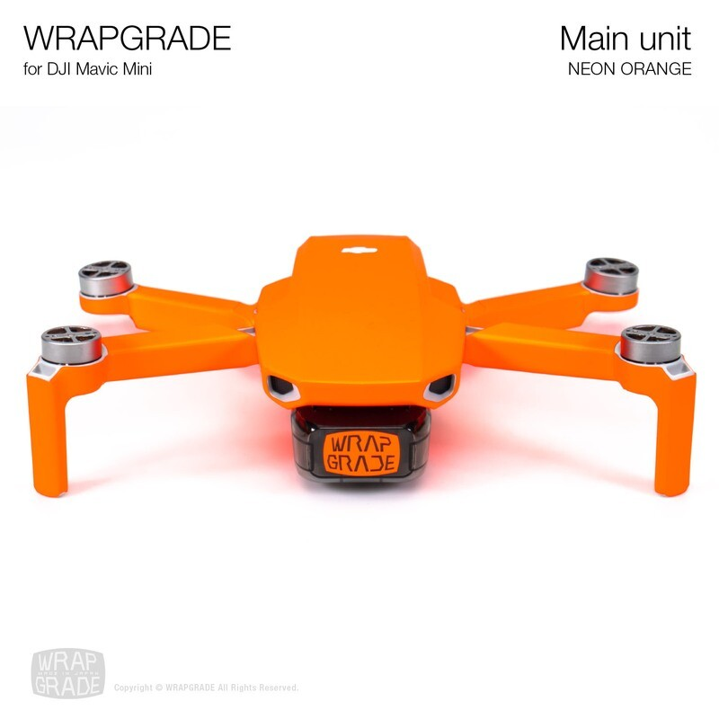 Wrapgrade Poly Skin for Mavic Mini | Main Unit (NEON ORANGE)