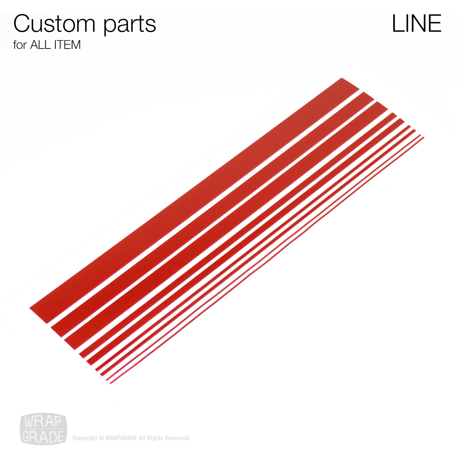 Custom Line Stripe Parts for ALL ITEMS [20colors]