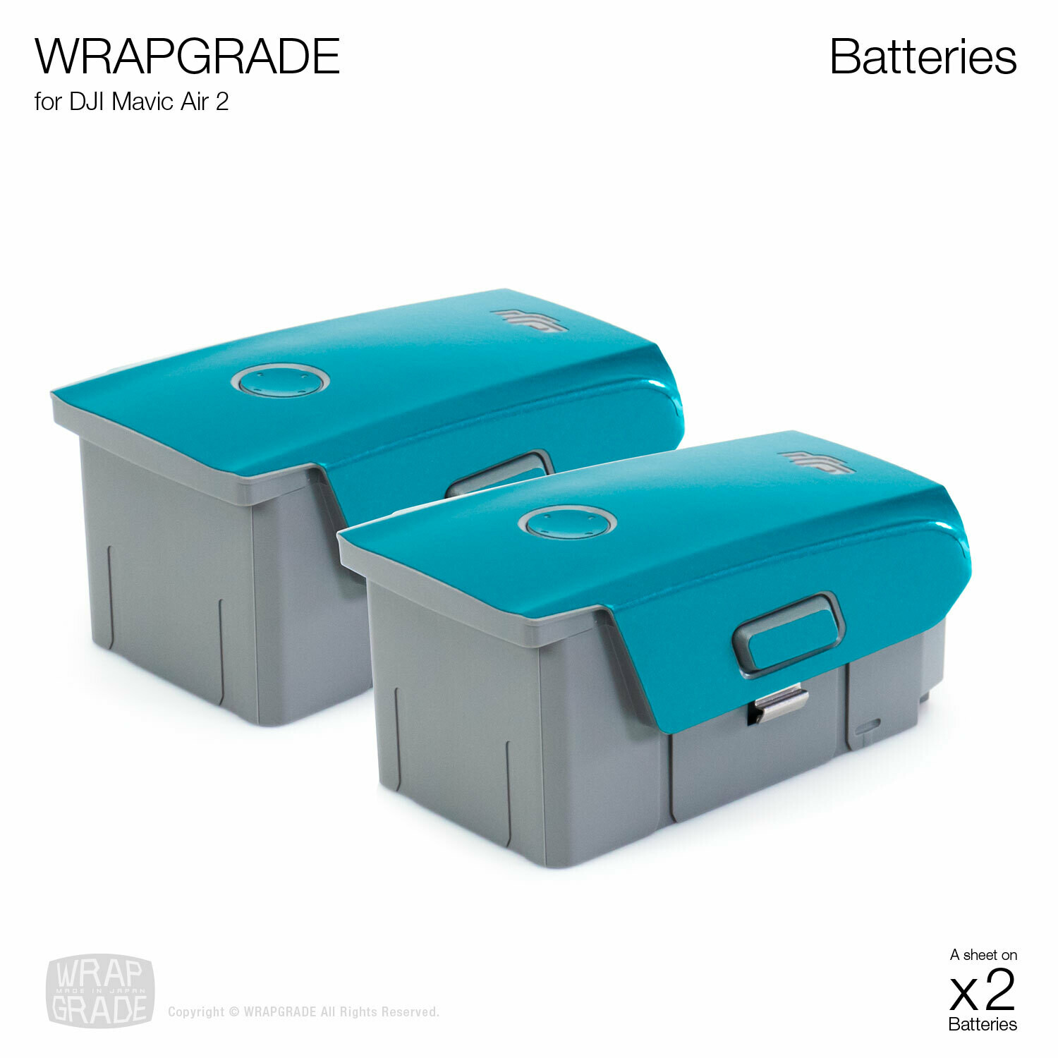Wrapgrade Skin for DJI Air 2/2S | Two Batteries [20 colors]