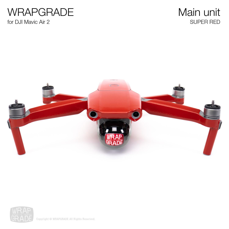 Wrapgrade for DJI Mavic Air 2 | Main Unit (SUPER RED)