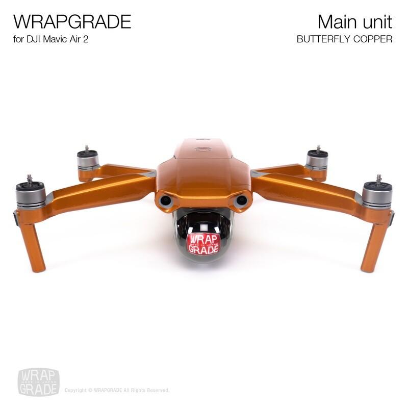 Wrapgrade for DJI Mavic Air 2 | Main Unit (BUTTERFLY COPPER)