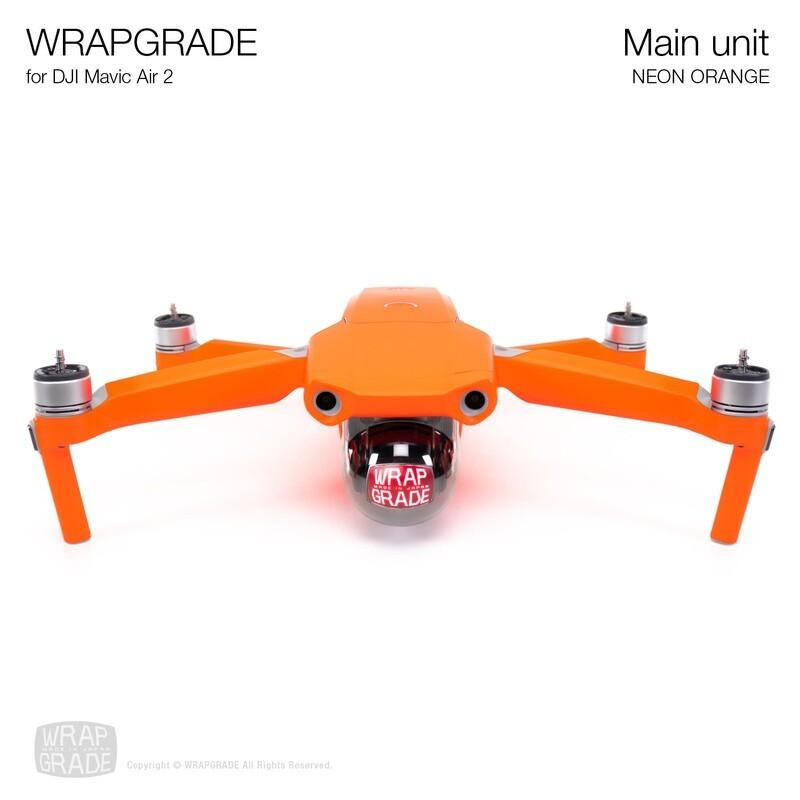 Wrapgrade for DJI Mavic Air 2 | Main Unit (NEON ORANGE)