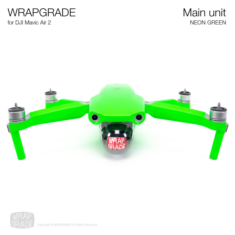 Wrapgrade for DJI Mavic Air 2 | Main Unit (NEON GREEN)