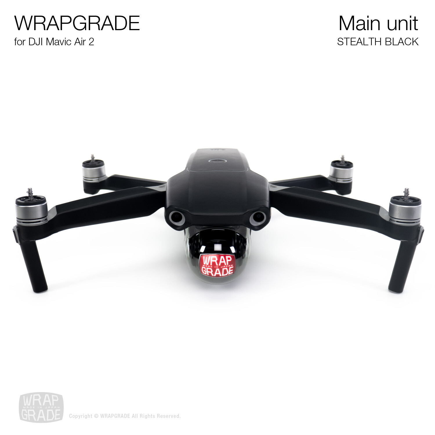 Wrapgrade for DJI Mavic Air 2 | Main Unit​ (​STEALTH BLACK)