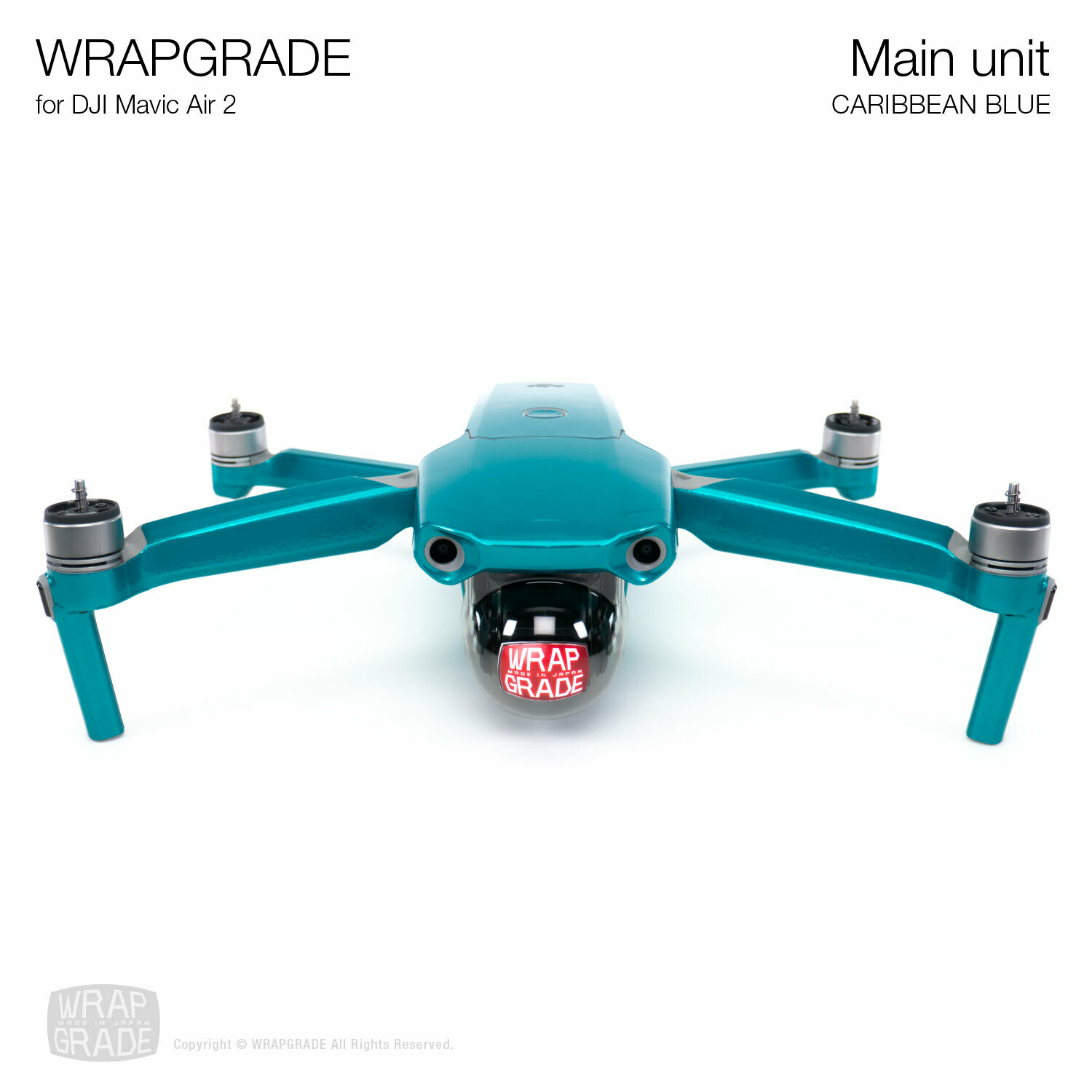 Wrapgrade for DJI Mavic Air 2 | Main Unit​ (​CARIBBEAN BLUE)