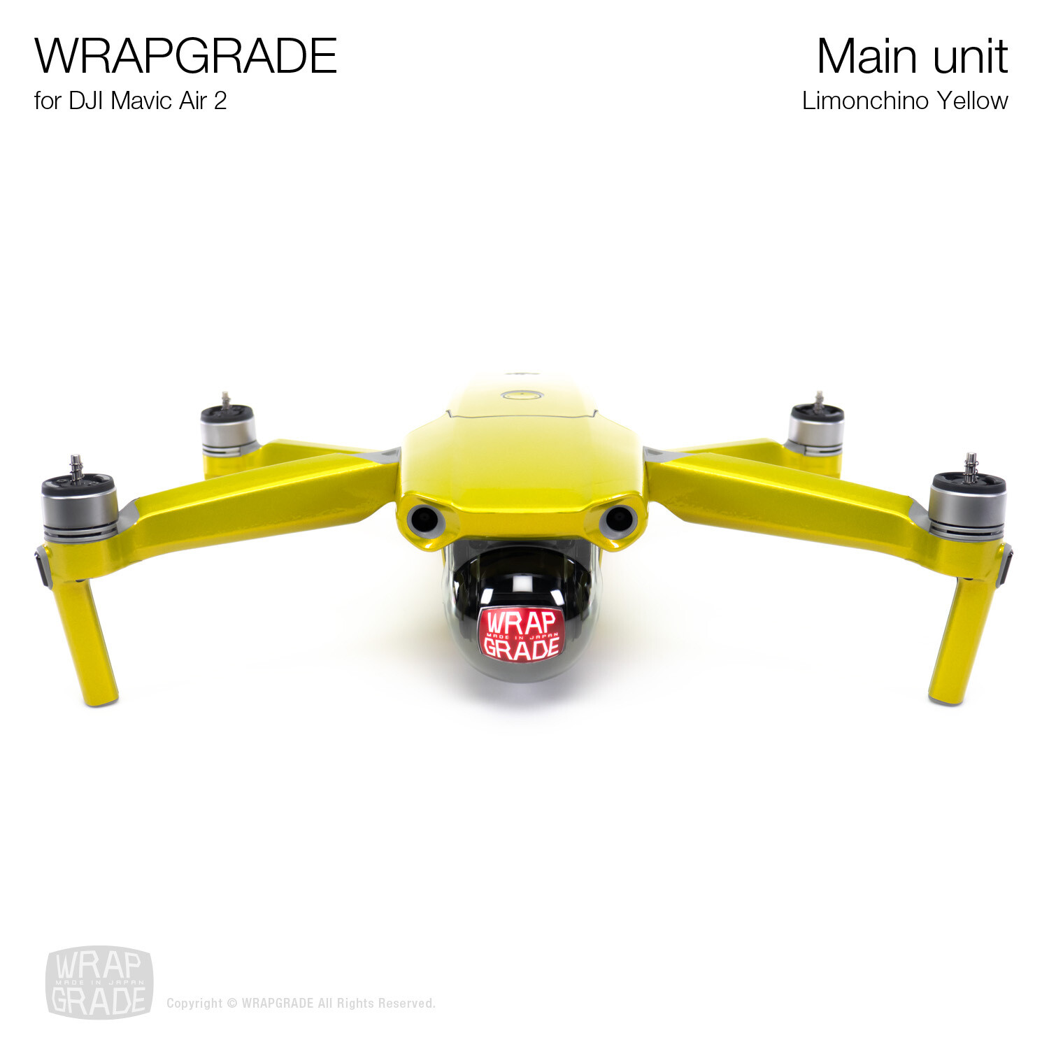 Wrapgrade for DJI Mavic Air 2 | Main Unit​ (LIMONCINO YELLOW​)