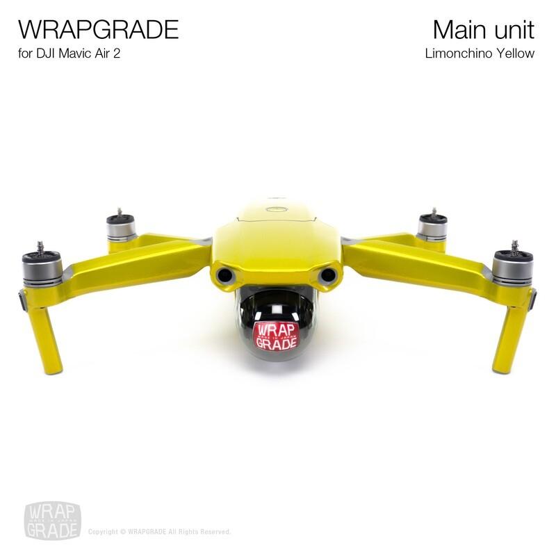 Wrapgrade for DJI Mavic Air 2 | Main Unit (LIMONCINO YELLOW)