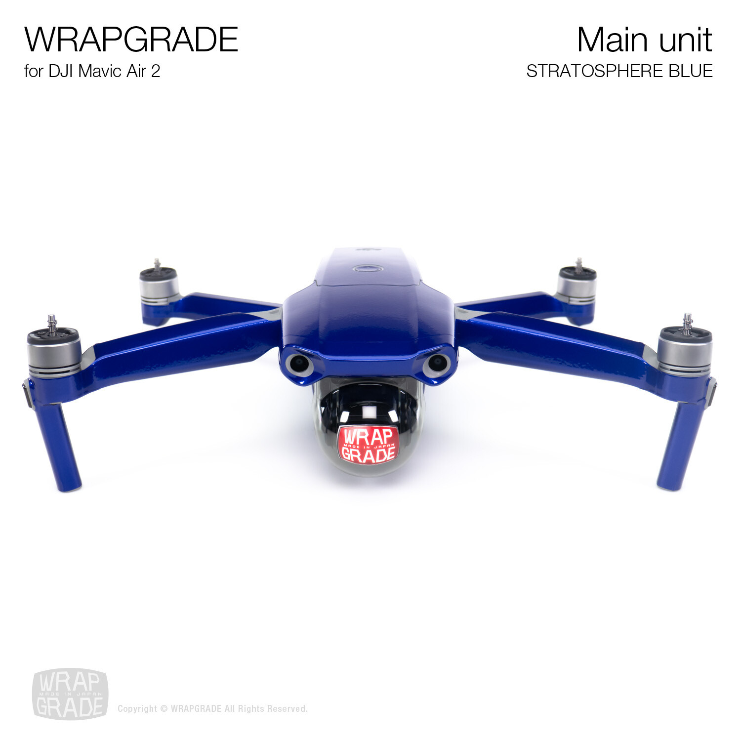 Wrapgrade for DJI Mavic Air 2 | Main Unit​ (​STRATOSPHERE BLUE)