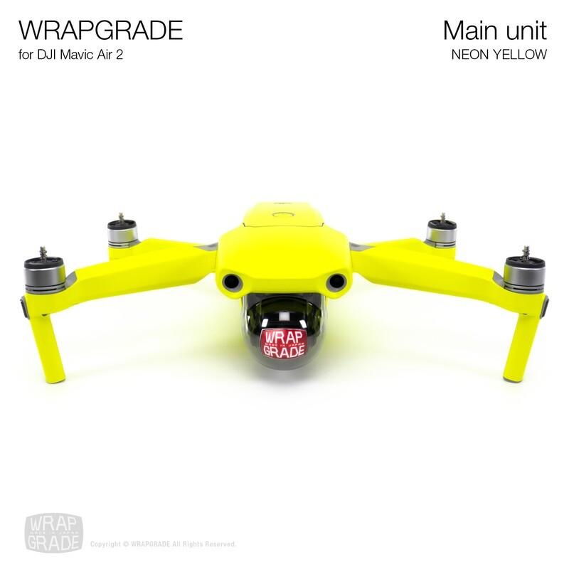 Wrapgrade for DJI Mavic Air 2 | Main Unit (NEON YELLOW)