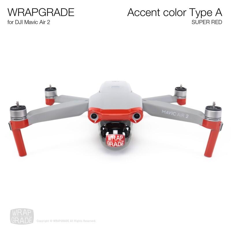 Wrapgrade for DJI Mavic Air 2 | Accent Color A (SUPER RED)