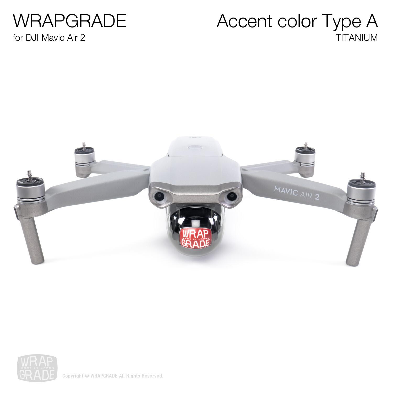 Wrapgrade for DJI Mavic Air 2 | Accent Color A (TITANIUM)